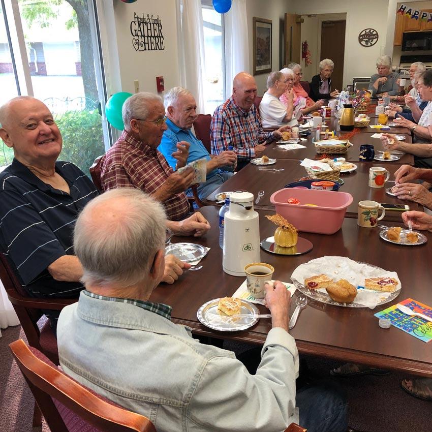 Gathering of residence at Regency Retirement